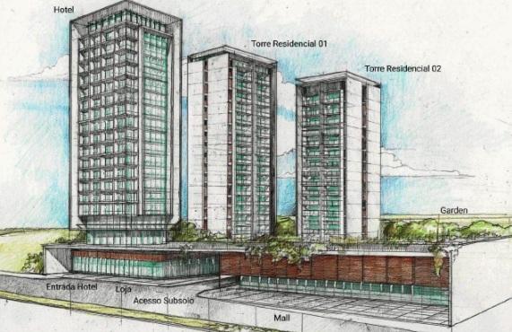 Planejamento de Hotel e Strip Mall em Sumaré<br>Sumaré/ SP